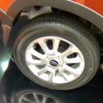 Mahindra KUV100 LHD-spec wheel showcased at Automobile Barcelona