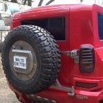 Mahindra Thar modified to a Hummer wheel