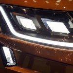 Mahindra XUV Aero headlamp at Automobile Barcelona