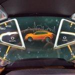 Mahindra XUV Aero instrument display at Automobile Barcelona