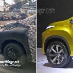 Production Mitsubishi XM front quarter panel spy shot
