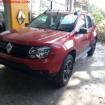 Renault Duster Xtronic CVT front quarter spied at dealership