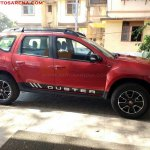 Renault Duster Xtronic CVT side spied at dealership