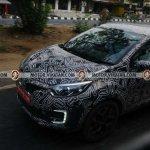 Renault Kaptur with LED DRLs spy shot Chennai