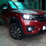 Renault Kwid customized with LED headlamp, foglamps, rims