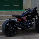 Royal Enfield Americana by Bulleteer Customs rear three quarter
