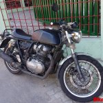 Royal Enfield Continental GT 750 front three quarters spy shot