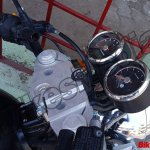 Royal Enfield Continental GT 750 instrument panel spy shot