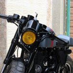 Royal Enfield Continental GT Grey Hound by TNT Motorcycles headlamp