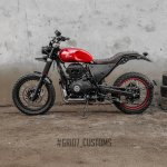 Royal Enfield Himalayan Scrambler by Grid7 Customs side left