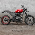 Royal Enfield Himalayan Scrambler by Grid7 Customs side right