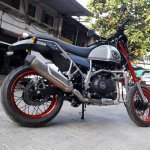 Royal Enfield Himalayan Madmax by Transfigure Custom House rear three quarter right
