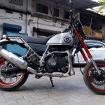 Royal Enfield Himalayan Madmax by Transfigure Custom House side right low