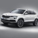 Skoda Karoq front three quarters