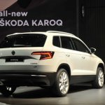 Skoda Karoq rear three quarters