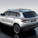 Skoda Karoq rear three quarters left side