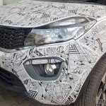 Tata Nexon spied headlamp with camouflage