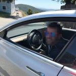 Tesla Model 3 interior second spy shot