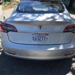 Tesla Model 3 rear spy shot