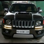 Toyota Fortuner custom Jeep Renegade front fascia grille