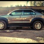 Toyota Fortuner custom Jeep Renegade side profile view