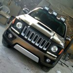 Toyota Fortuner modded Jeep Renegade front