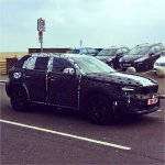 Volvo XC40 front three quarters spy shot
