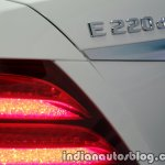 2017 Mercedes E 220 d LWB badge launched in India