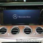 2017 Mercedes E 220 d LWB display launched in India