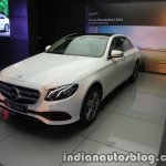 2017 Mercedes E 220 d LWB front quarter launched in India