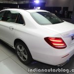 2017 Mercedes E 220 d LWB rear three quarter launched in India