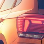 2017 VW Polo tail light teaser