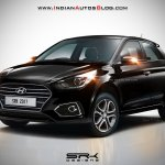 2018 Hyundai i20 (facelift) rendered in black colour