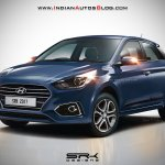 2018 Hyundai i20 (facelift) rendered in blue colour