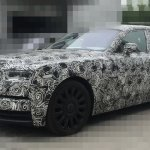 2018 Rolls-Royce Phantom front three quarters spy shot