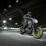 2018 Yamaha MT-03 Europe motion fluorescent front three quarter