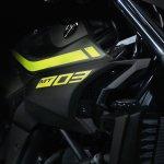 2018 Yamaha MT-03 Europe studio fluorescent badging