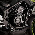 2018 Yamaha MT-03 Europe studio fluorescent engine