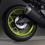 2018 Yamaha MT-03 Europe studio fluorescent rear wheel
