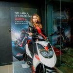 Aprilia SR150 launch Sri Lanka front