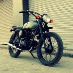 Hero Honda 100 cc custom bike by Ayas Custom Motorcycle front three quarter