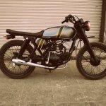 Hero Honda 100 cc custom bike by Ayas Custom Motorcycle side
