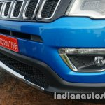 Jeep Compass chrome fittings in the front review