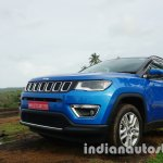 Jeep Compass front three quarter review