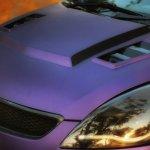 Maruti Swift matte purple wrap and sporty body kit headlamp