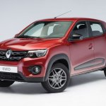 Renault Kwid Brazilian spec front three quarter angle