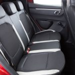 Renault Kwid Brazilian spec rear seat with three headrests