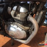 Royal Enfield Continental GT 750 latest spy shot engine and radiator