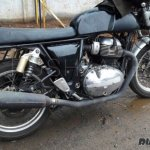 Royal Enfield Continental GT 750 latest spy shot side and rear three quarter