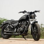 Royal Enfield Thunderbird 500 Black Magic by Eimor Customs front three quarter right